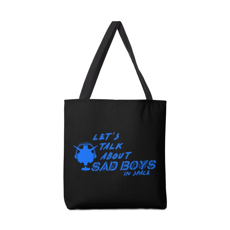 Sad Bois Blue Accessories Tote Bag Bag by Mobile Suit Breakdown's Shop