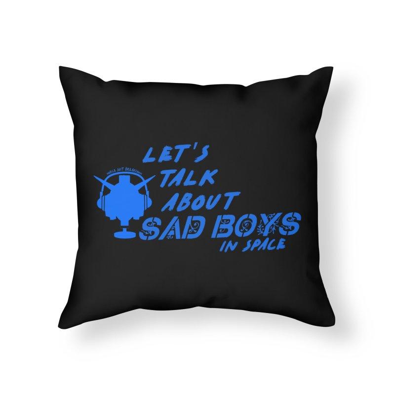 Sad Bois Blue Home Throw Pillow by Mobile Suit Breakdown's Shop