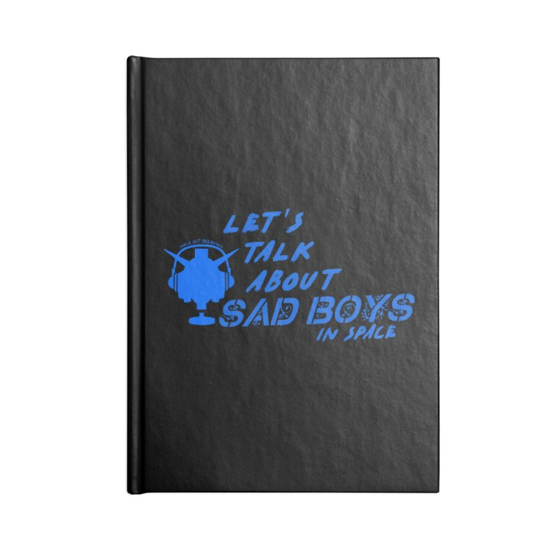 Sad Bois Blue Accessories Lined Journal Notebook by Mobile Suit Breakdown's Shop