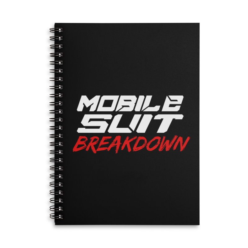 """""""Mobile Suit Breakdown"""" Accessories Notebook by Mobile Suit Breakdown's Shop"""
