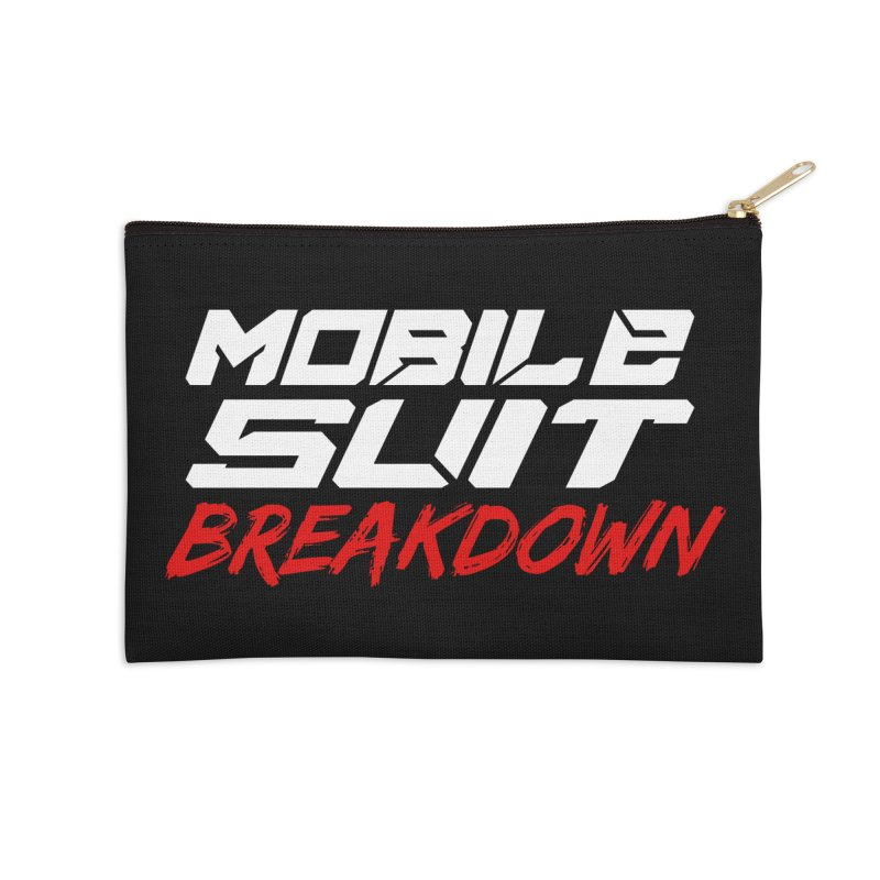 """""""Mobile Suit Breakdown"""" Accessories Zip Pouch by Mobile Suit Breakdown's Shop"""