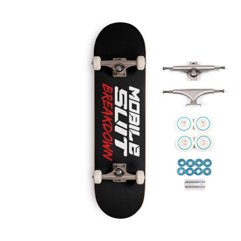 """Mobile Suit Breakdown"" Accessories Skateboard by Mobile Suit Breakdown's Shop"