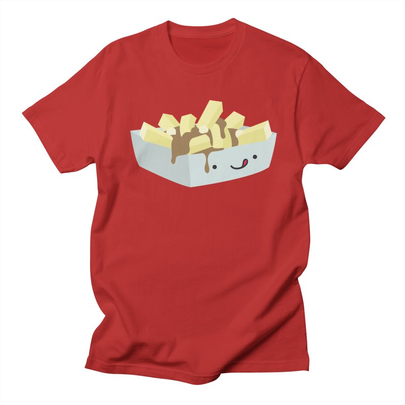 Canadian Foods: Poutine Men's T-shirt by The Haus of Gunnarolla