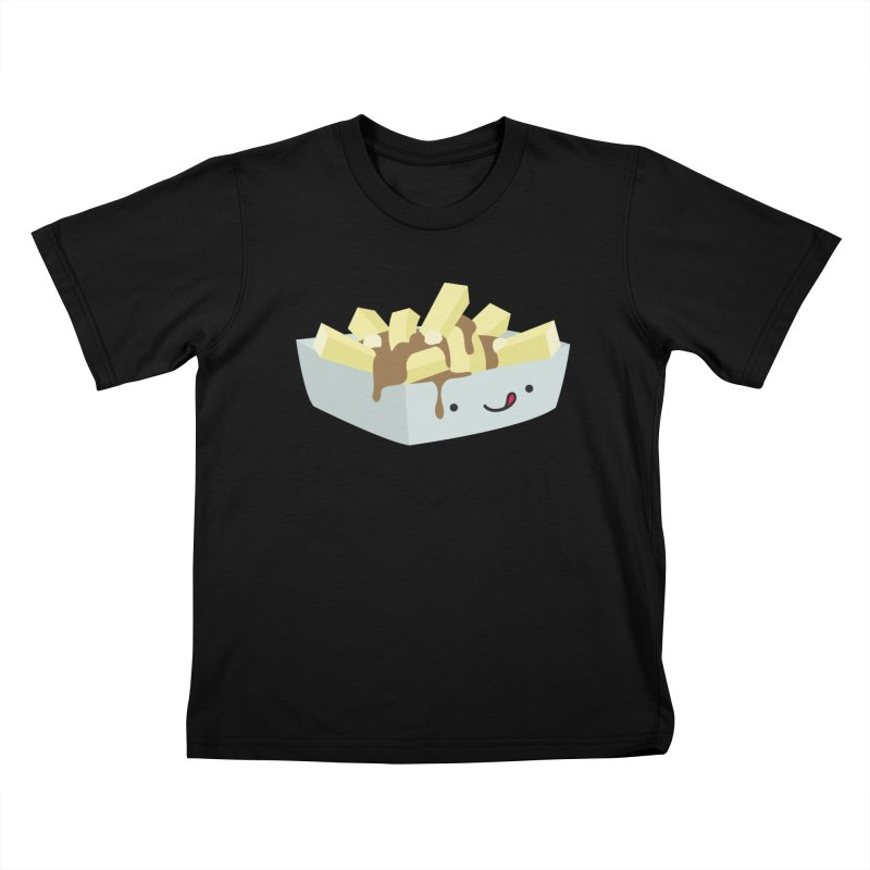 Canadian Foods: Poutine Kids T-Shirt by The Haus of Gunnarolla