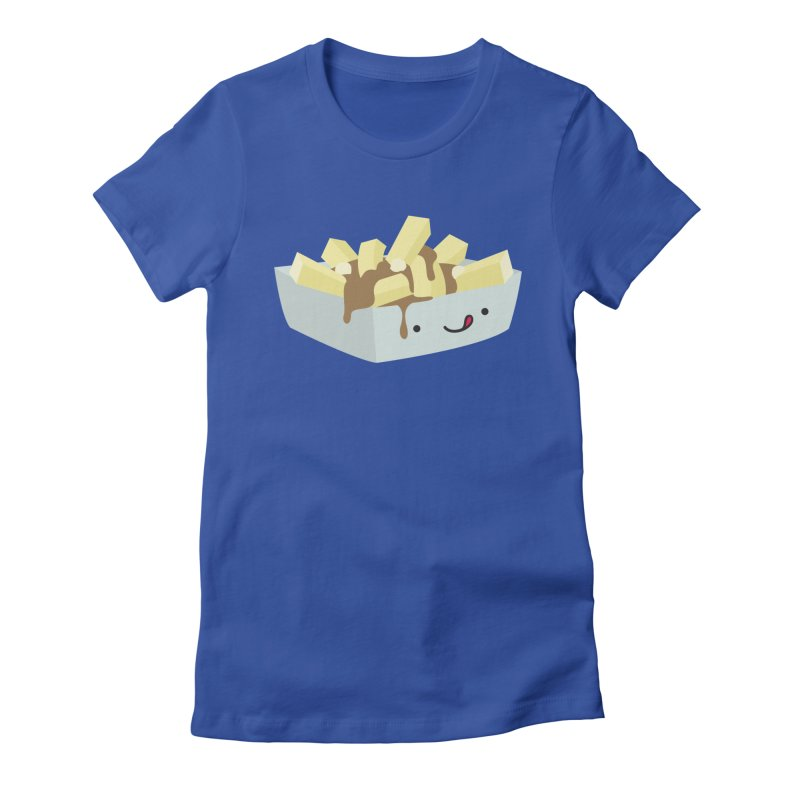 Canadian Foods: Poutine Women's Fitted T-Shirt by The Haus of Gunnarolla