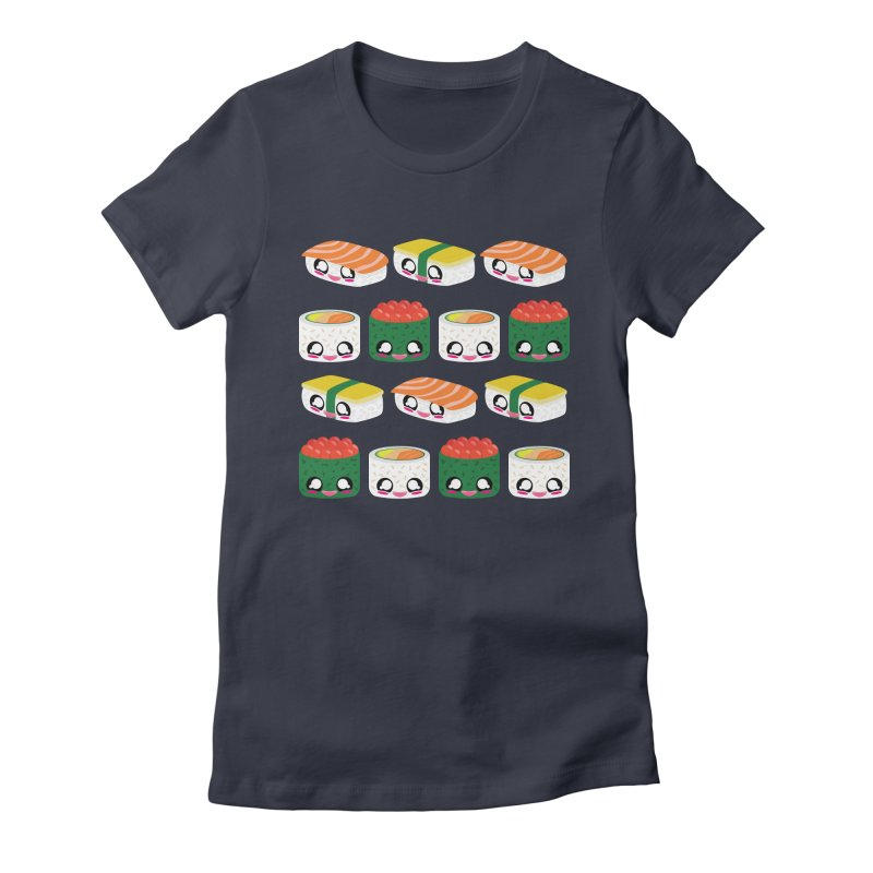 Sushi! Women's Fitted T-Shirt by The Haus of Gunnarolla