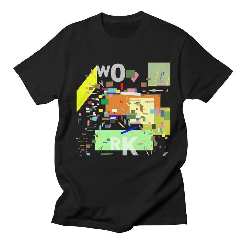 work Men's T-shirt by gupikus's Artist Shop