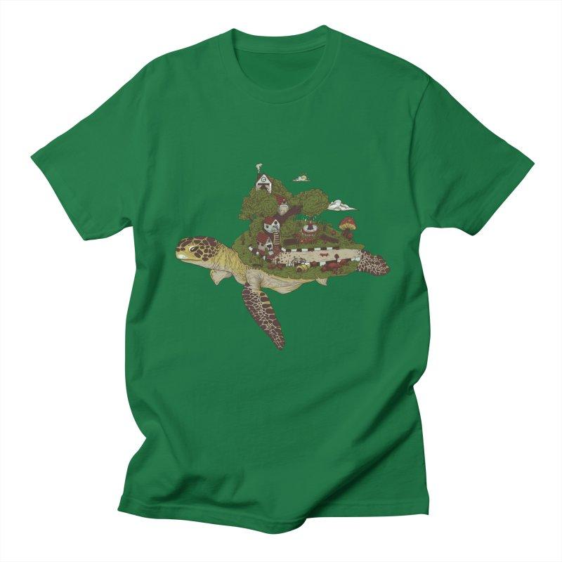 THE ISLAND LONGGERHEAD SEA Men's T-Shirt by gupikus's Artist Shop