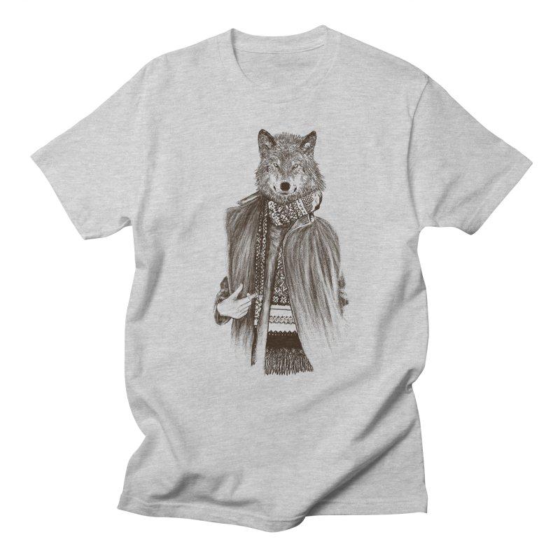 wo(lf)man Men's T-shirt by gupikus's Artist Shop
