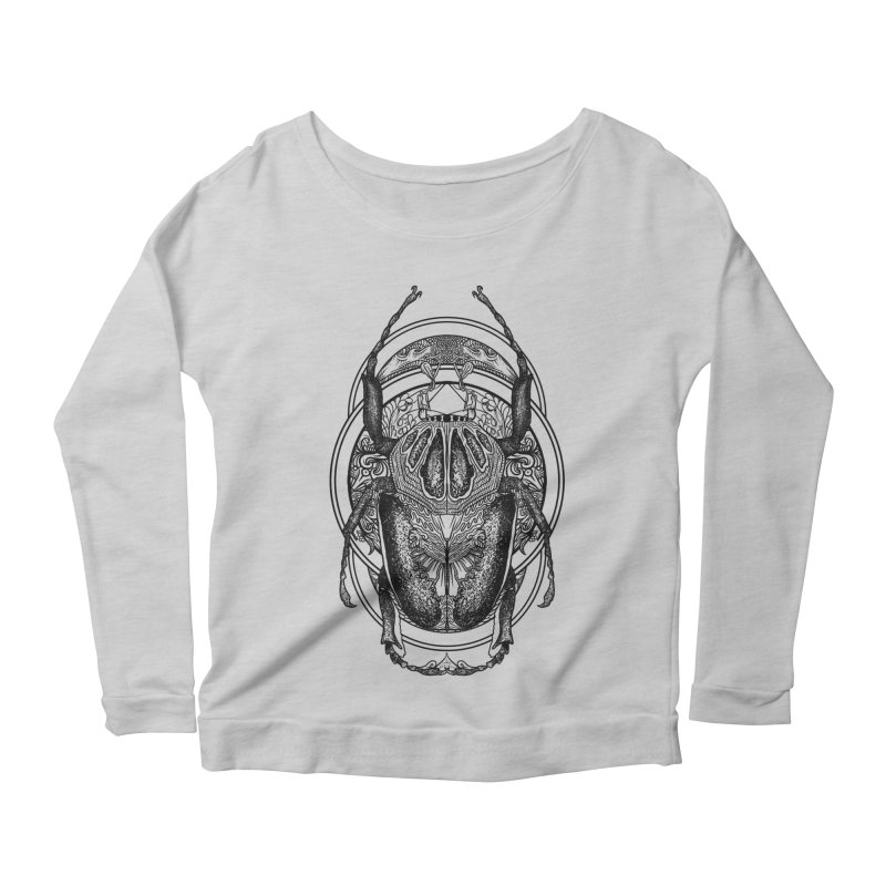 beetle Women's Longsleeve Scoopneck  by gupikus's Artist Shop