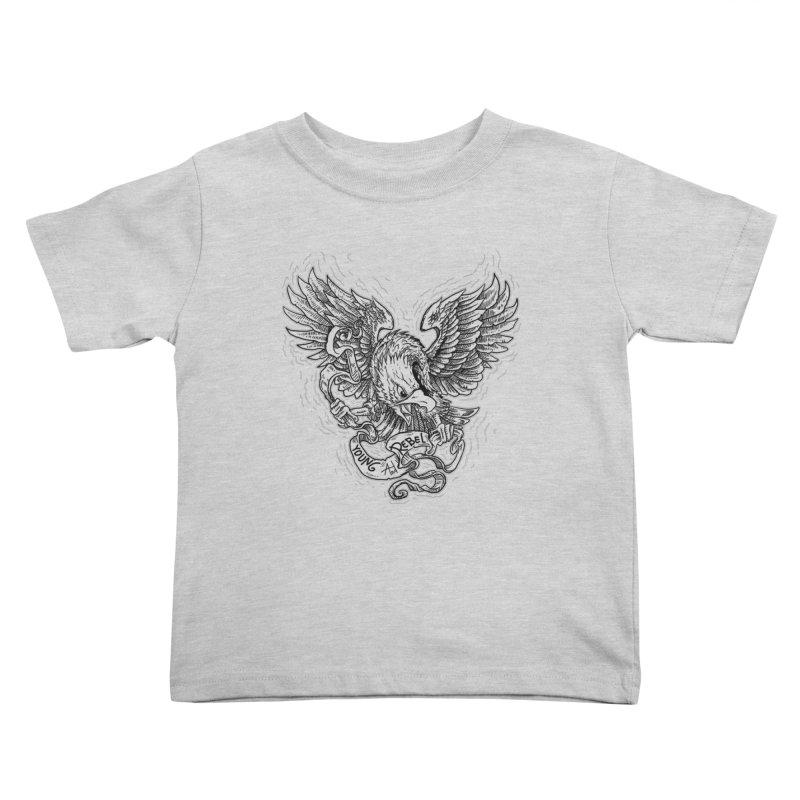 eagle Kids Toddler T-Shirt by gupikus's Artist Shop