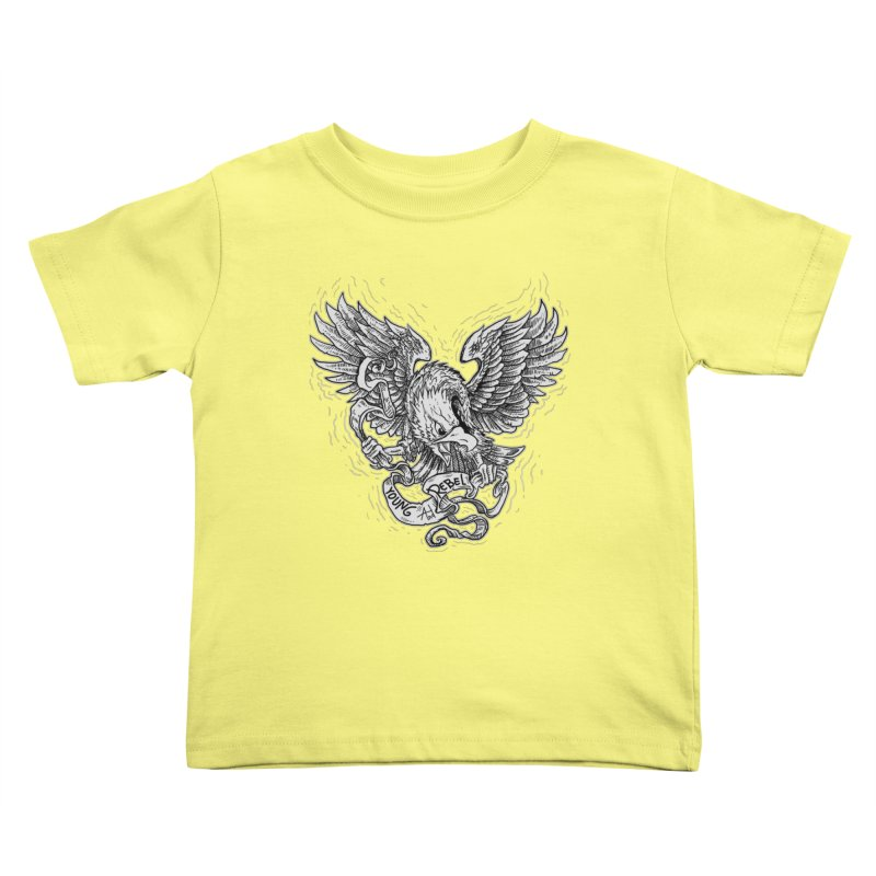 eagle Kids Toddler T-Shirt by gupikus's Artist Shop