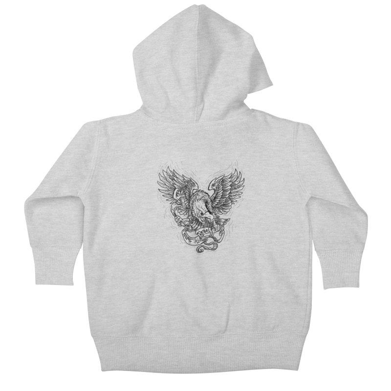 eagle Kids Baby Zip-Up Hoody by gupikus's Artist Shop