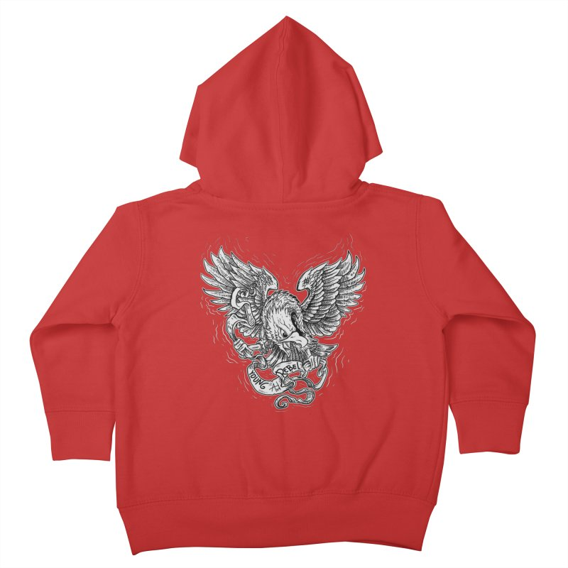 eagle Kids Toddler Zip-Up Hoody by gupikus's Artist Shop