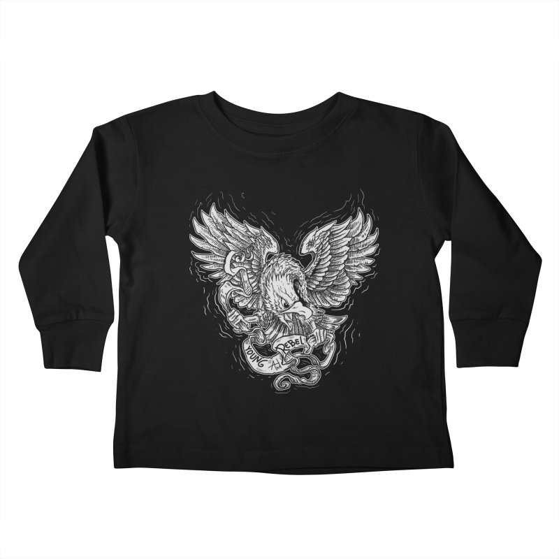 eagle Kids Toddler Longsleeve T-Shirt by gupikus's Artist Shop