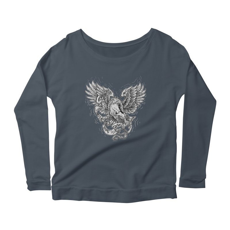 eagle Women's Longsleeve Scoopneck  by gupikus's Artist Shop