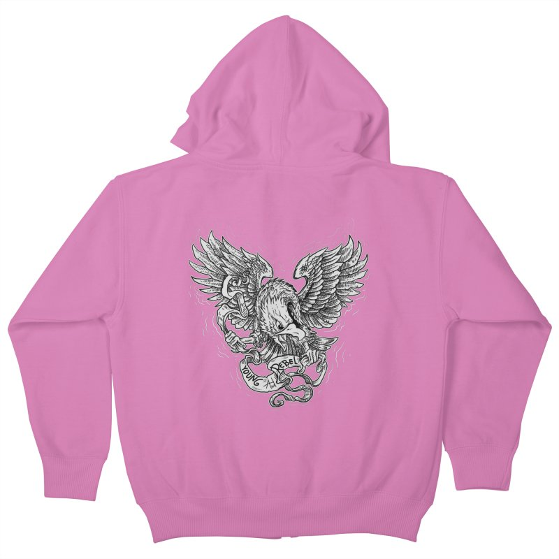 eagle Kids Zip-Up Hoody by gupikus's Artist Shop