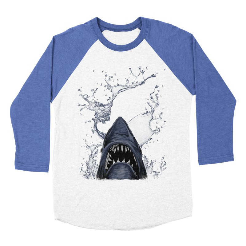 shark Men's Baseball Triblend T-Shirt by gupikus's Artist Shop