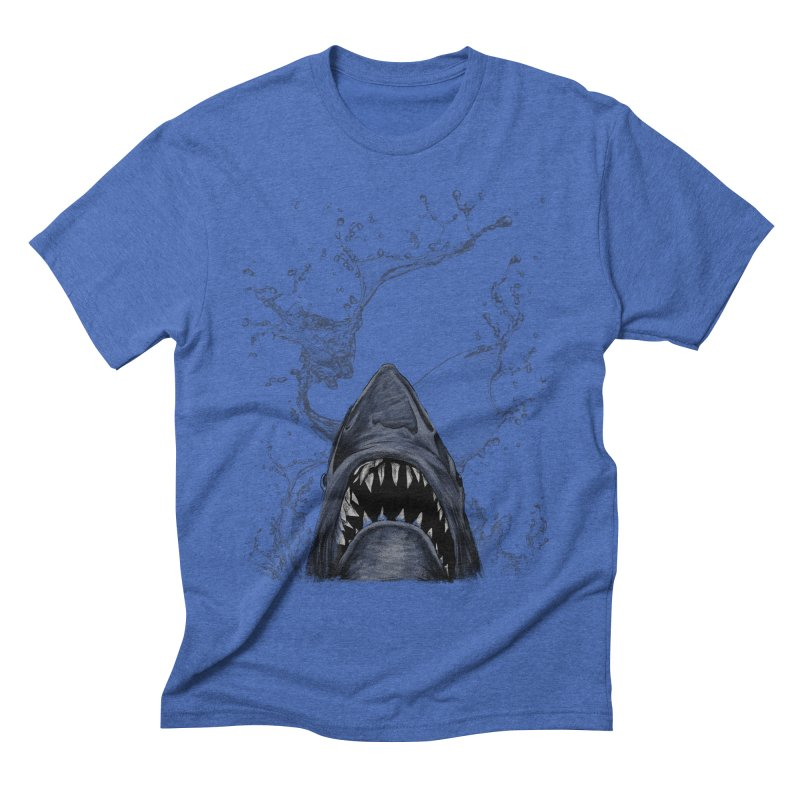 shark Men's Triblend T-shirt by gupikus's Artist Shop