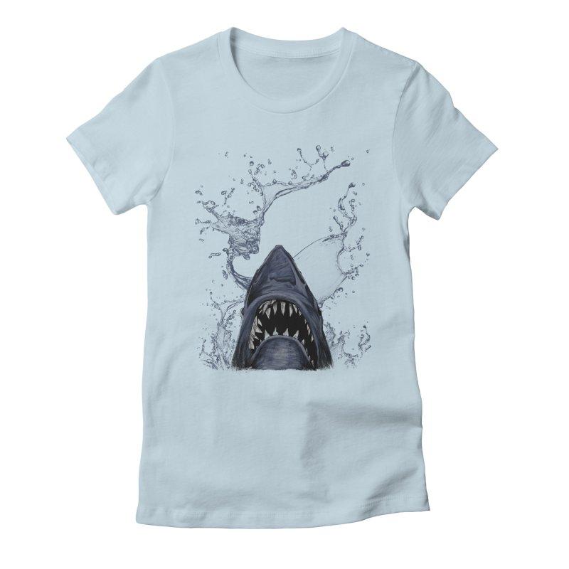 shark Women's Fitted T-Shirt by gupikus's Artist Shop