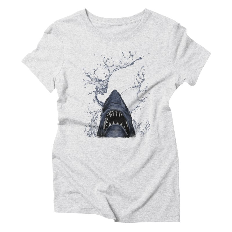 shark Women's Triblend T-shirt by gupikus's Artist Shop
