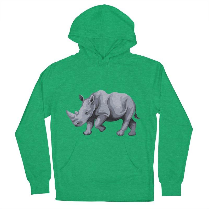 rhinoceros Women's Pullover Hoody by gupikus's Artist Shop