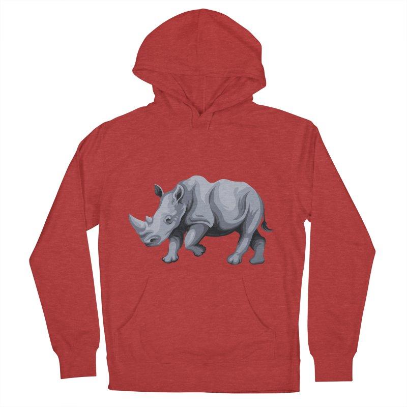 rhinoceros Men's Pullover Hoody by gupikus's Artist Shop