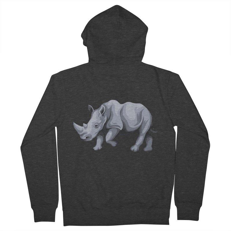 rhinoceros Men's Zip-Up Hoody by gupikus's Artist Shop
