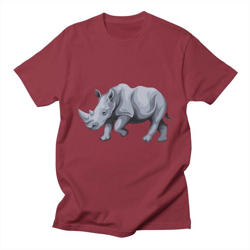 rhinoceros Men's T-Shirt by gupikus's Artist Shop