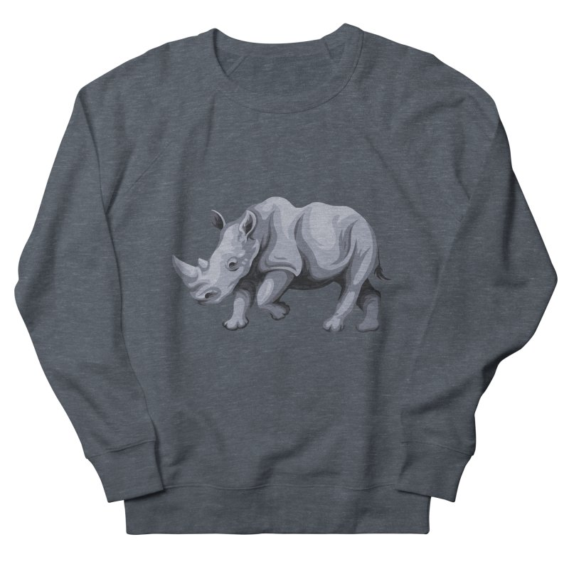 rhinoceros Men's Sweatshirt by gupikus's Artist Shop