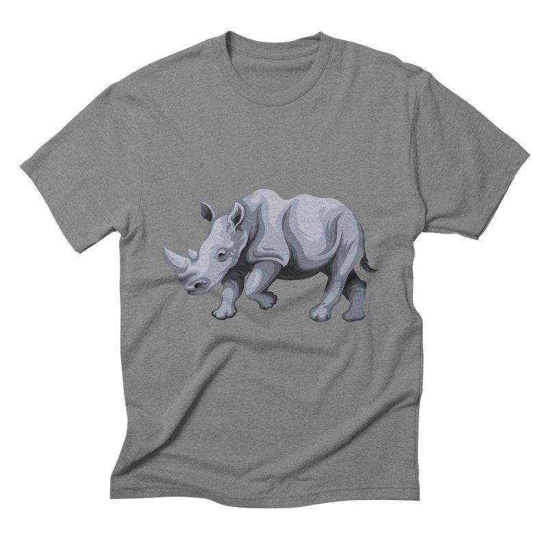 rhinoceros Men's Triblend T-Shirt by gupikus's Artist Shop
