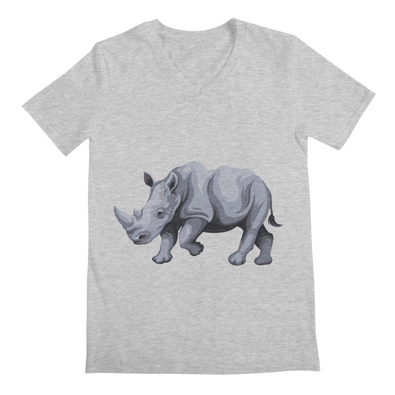 rhinoceros Men's V-Neck by gupikus's Artist Shop