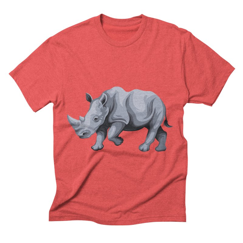 rhinoceros Men's Triblend T-shirt by gupikus's Artist Shop