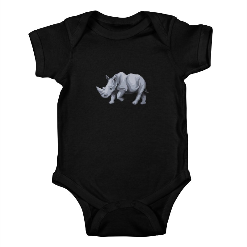 rhinoceros Kids Baby Bodysuit by gupikus's Artist Shop