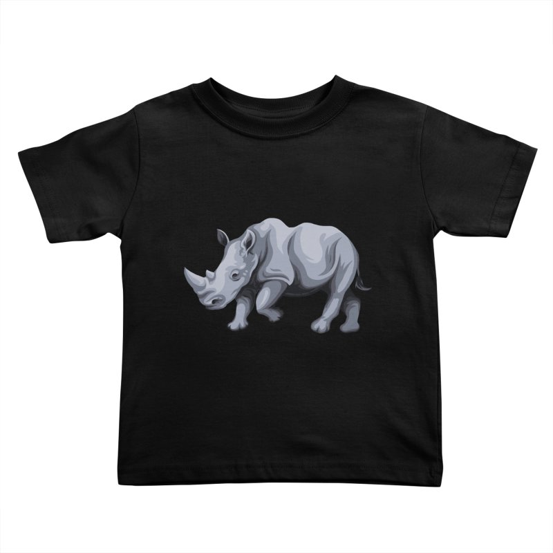 rhinoceros Kids Toddler T-Shirt by gupikus's Artist Shop