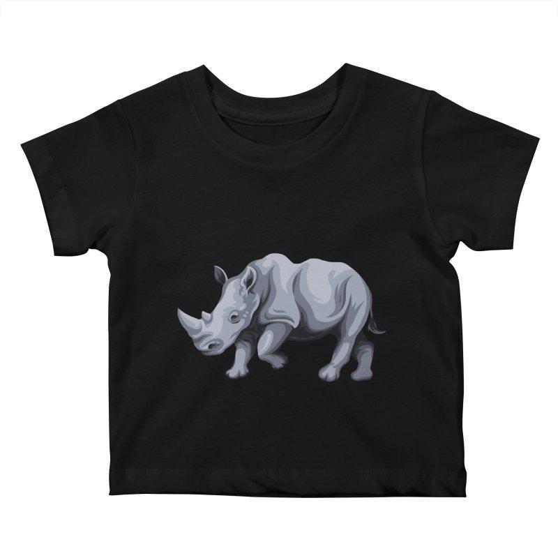 rhinoceros Kids Baby T-Shirt by gupikus's Artist Shop