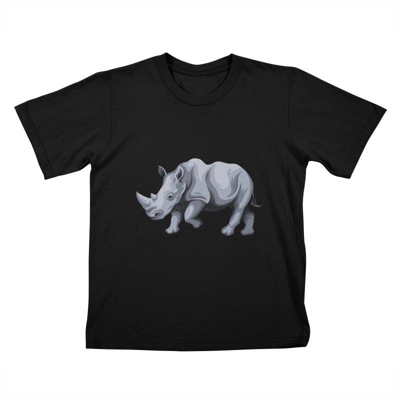 rhinoceros Kids T-shirt by gupikus's Artist Shop