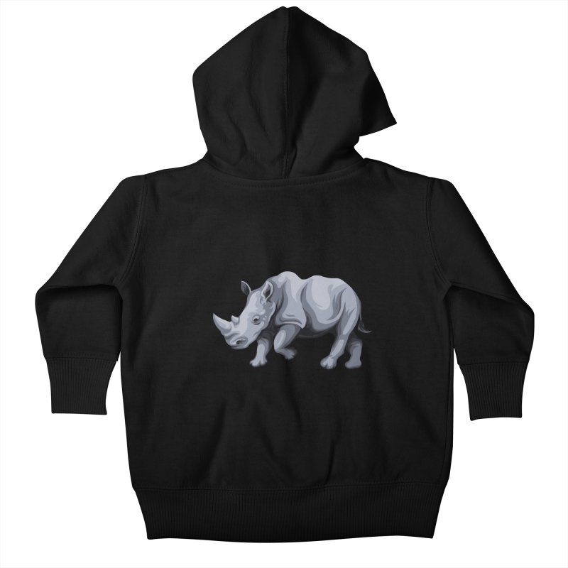 rhinoceros Kids Baby Zip-Up Hoody by gupikus's Artist Shop