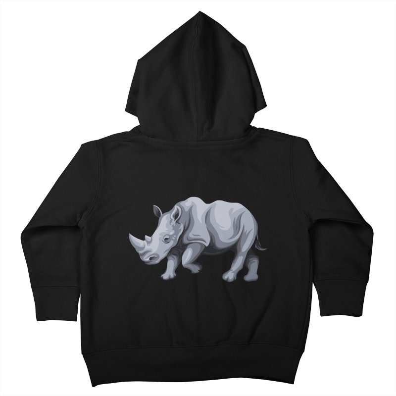 rhinoceros Kids Toddler Zip-Up Hoody by gupikus's Artist Shop