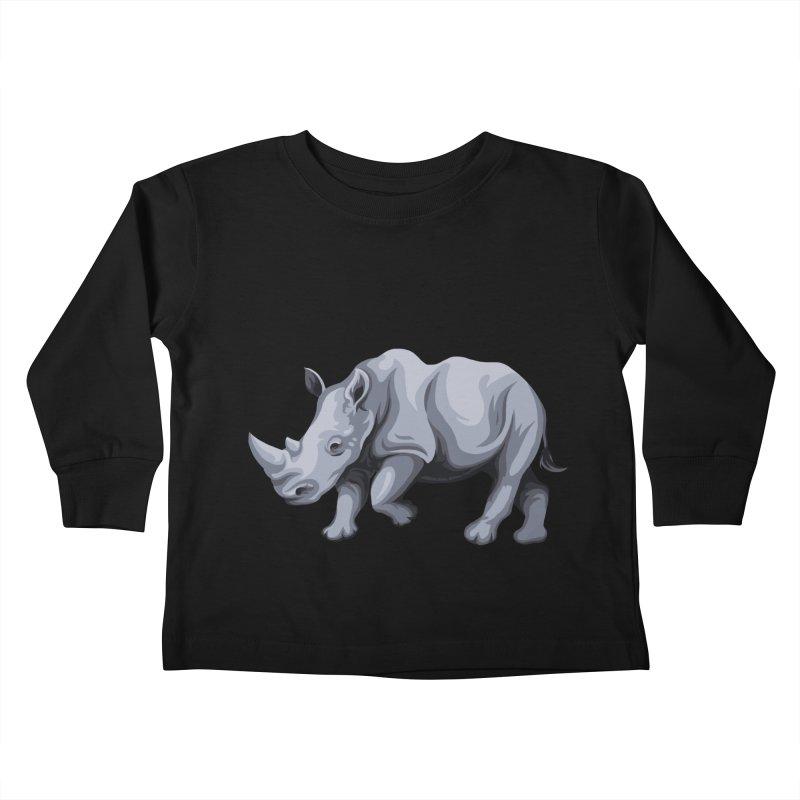rhinoceros Kids Toddler Longsleeve T-Shirt by gupikus's Artist Shop