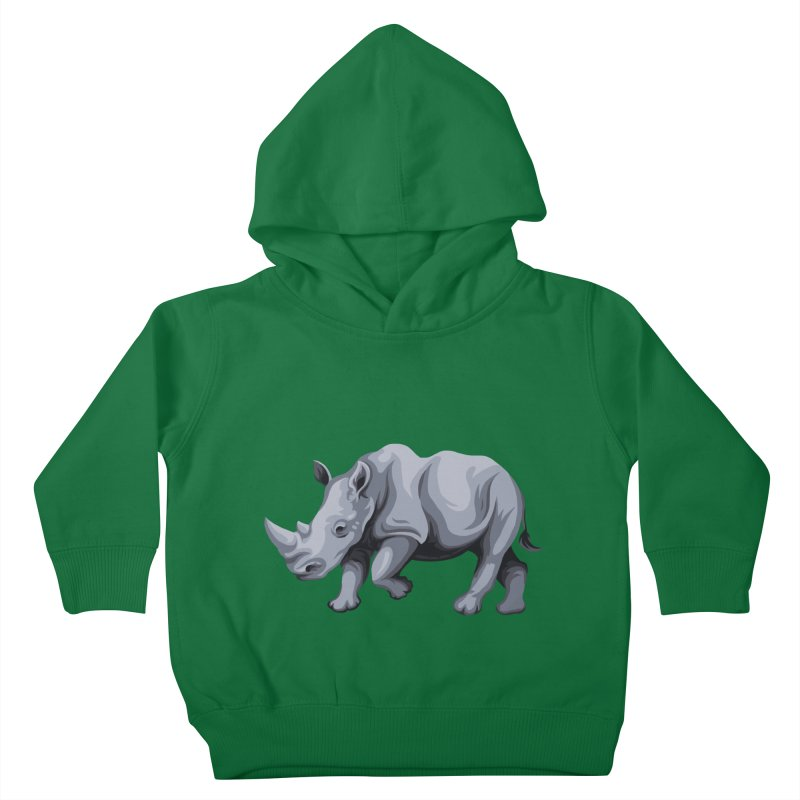 rhinoceros Kids Toddler Pullover Hoody by gupikus's Artist Shop