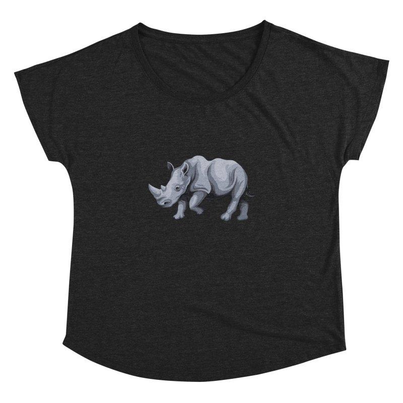 rhinoceros Women's Dolman by gupikus's Artist Shop
