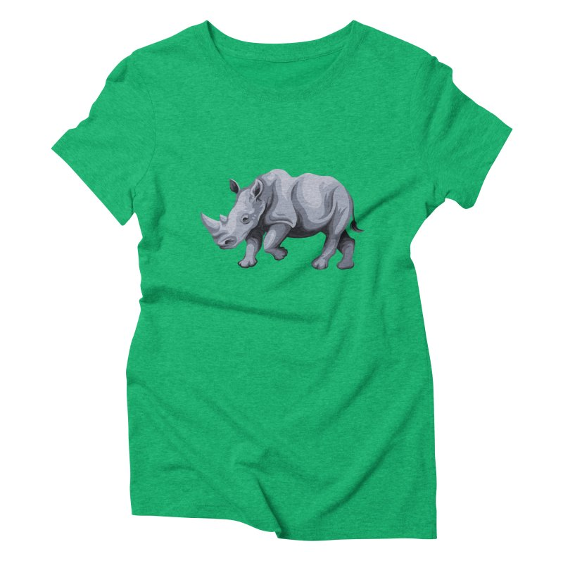 rhinoceros Women's Triblend T-shirt by gupikus's Artist Shop