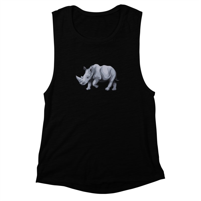 rhinoceros Women's Muscle Tank by gupikus's Artist Shop