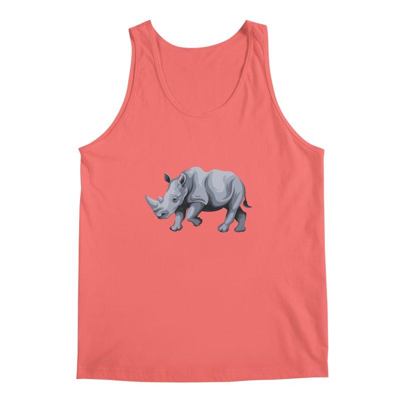 rhinoceros Men's Tank by gupikus's Artist Shop