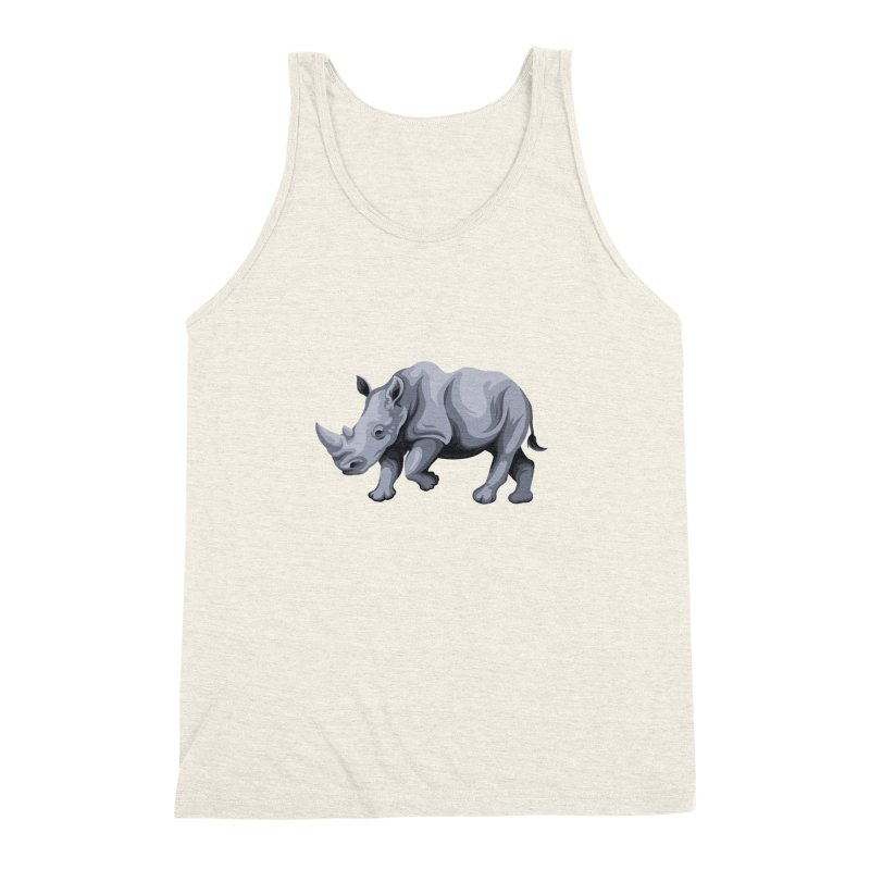 rhinoceros Men's Triblend Tank by gupikus's Artist Shop