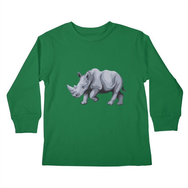 rhinoceros Kids Longsleeve T-Shirt by gupikus's Artist Shop
