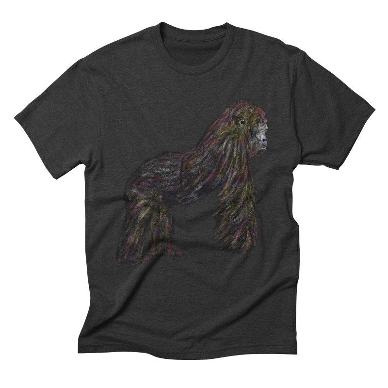 gorilla Men's Triblend T-Shirt by gupikus's Artist Shop