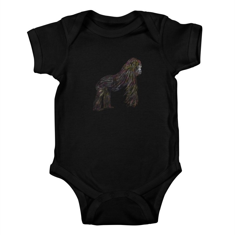 gorilla Kids Baby Bodysuit by gupikus's Artist Shop