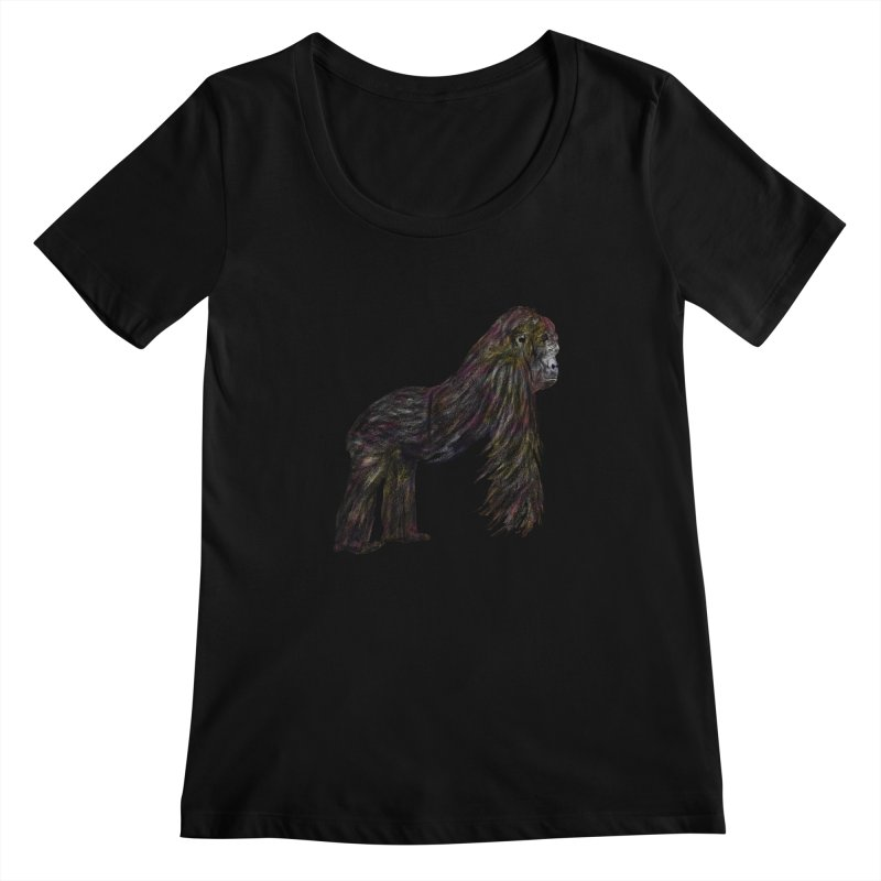 gorilla Women's Scoopneck by gupikus's Artist Shop